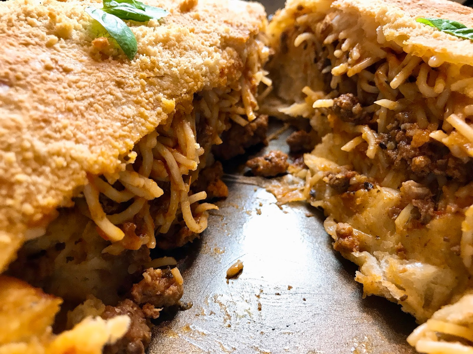 Spaghetti Bolognese Calzone-Stuffed Pizza-